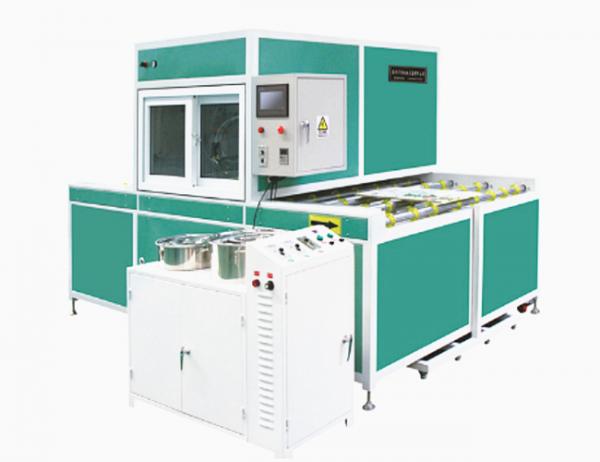 恭喜滕州的梦洋门业吴总再次选择了鑫皇机械的水晶移门封釉机
